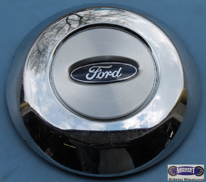 3576b Center Cap 17 Quot 05 08 Ford F 150 Chrome Outer Ring Brushed Center Blue Ford Oval Chrome Word Ford In Center 6 Lug Nut Clips 8 Quot Dia