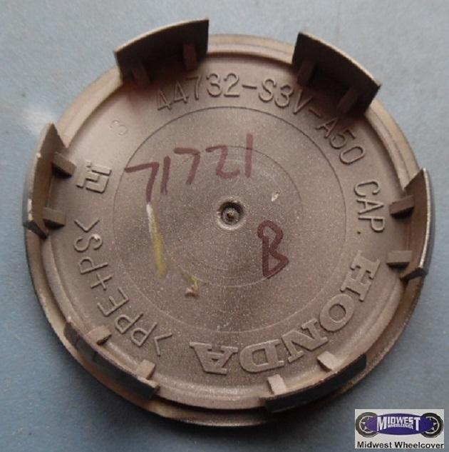 71721b, CENTER CAP USED, 02-04, ACURA, RSX, SPA. DARK GRAY